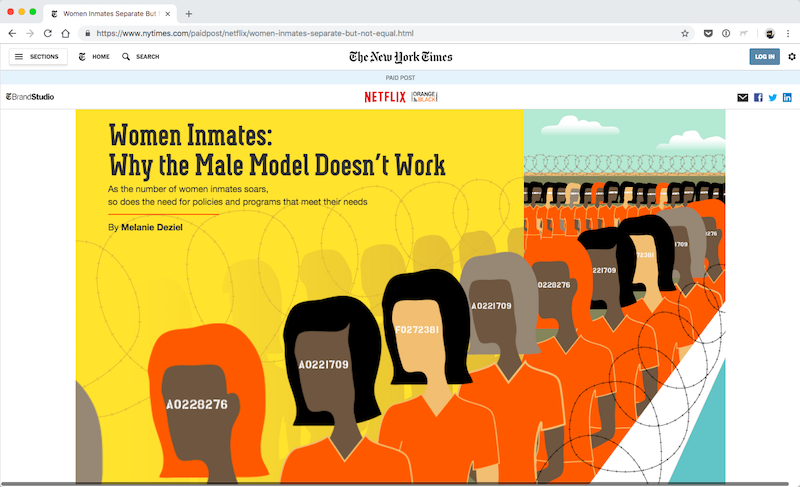 NYT and Orange is the new Black branded content