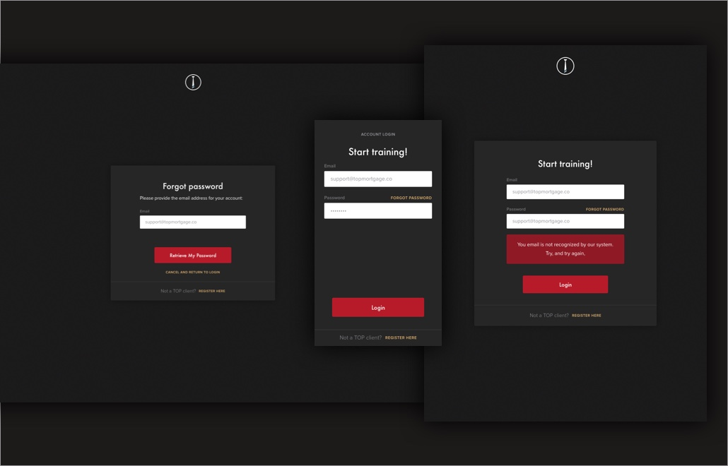 TOP: Web design case study: responsive login screens