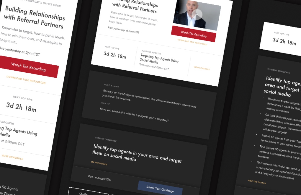 TOP: Web design case study: responsive dashboard designs
