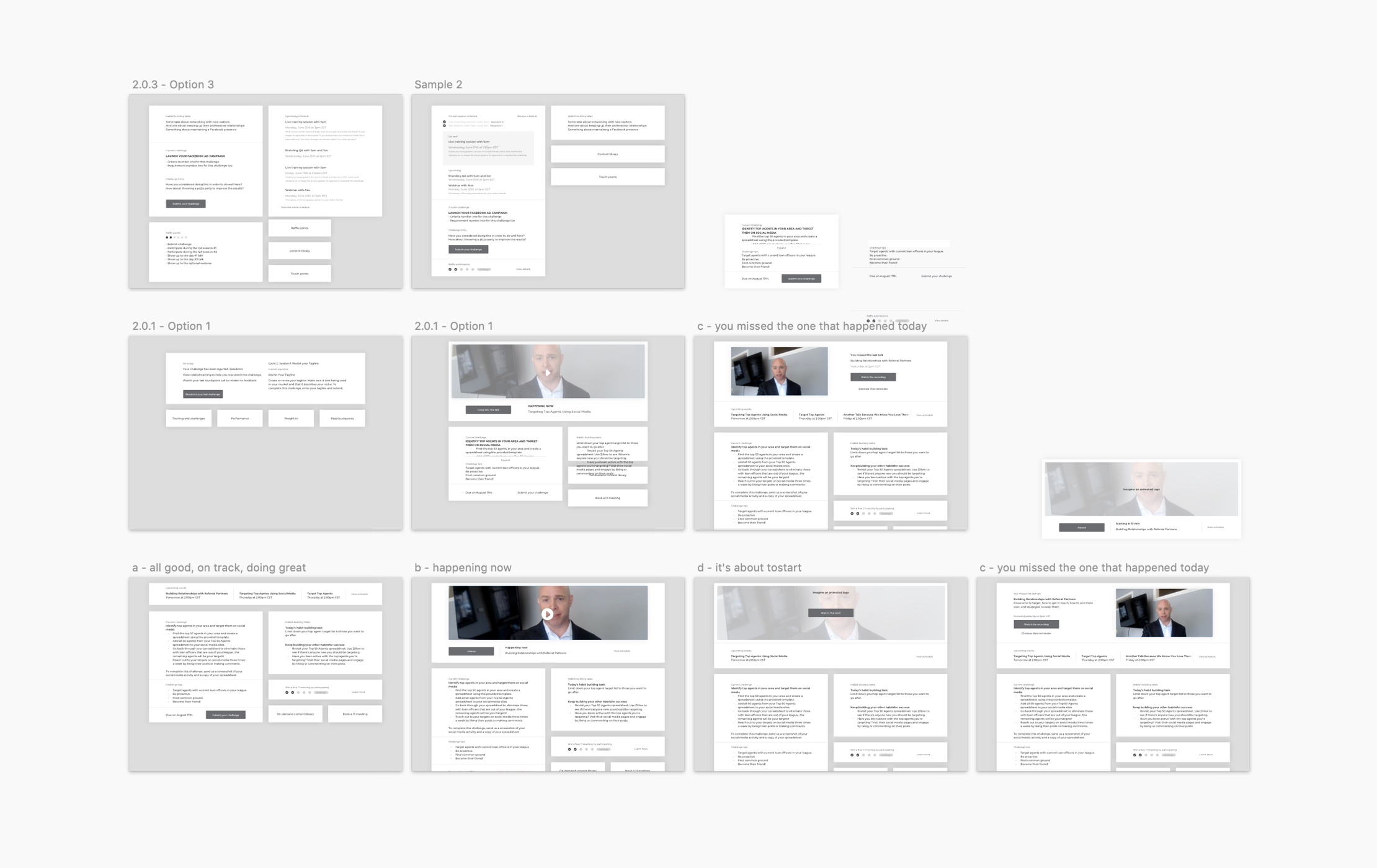 TOP: Web design case study: a peek at the wireframes