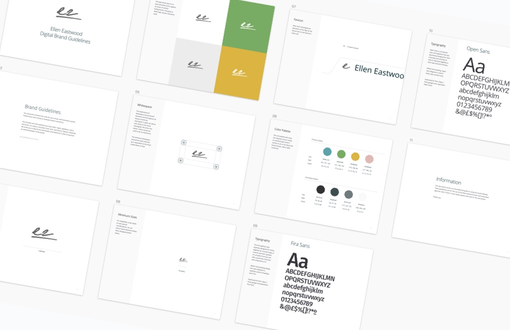 Ellen Eastwood: the final branding styleguide