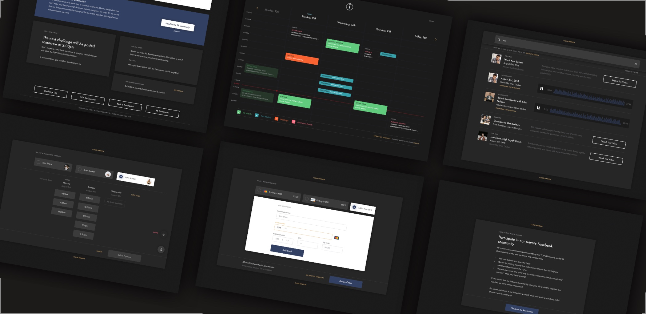 TOP: Web design case study: random screens