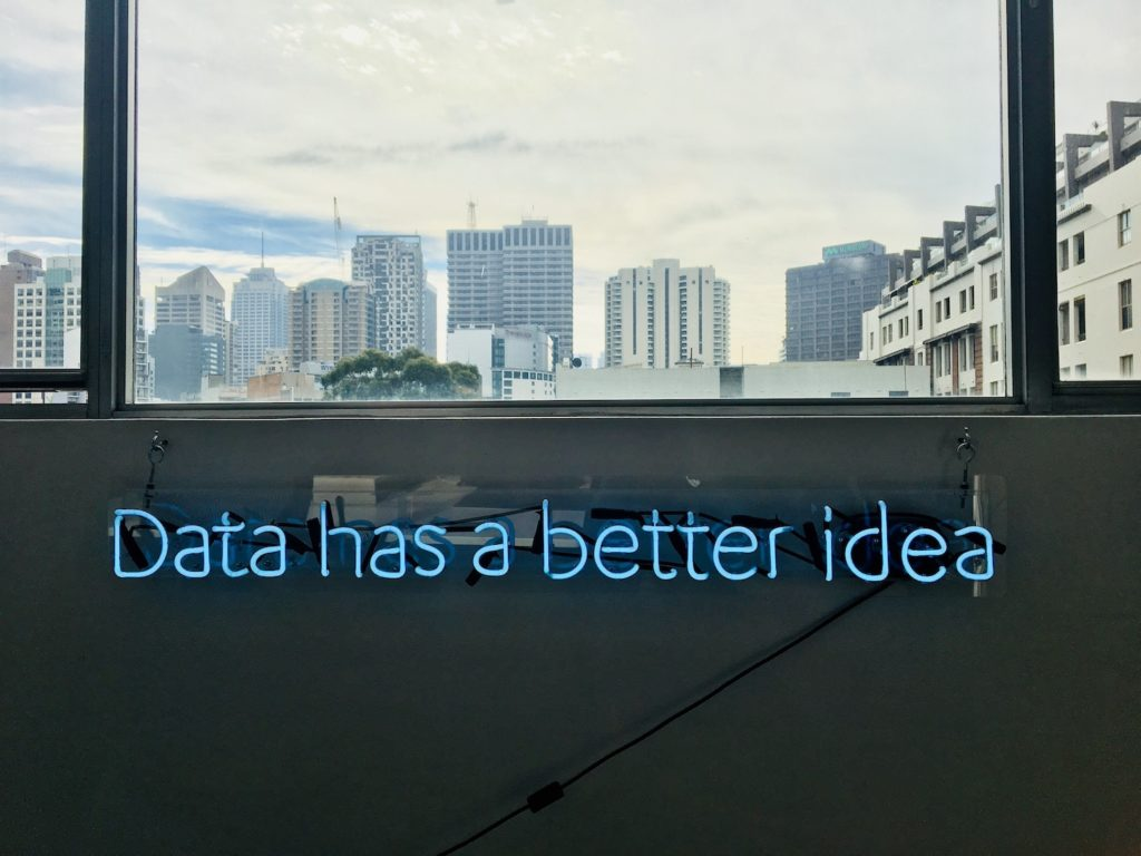 """Sign that says """"Data has a better idea"""""""