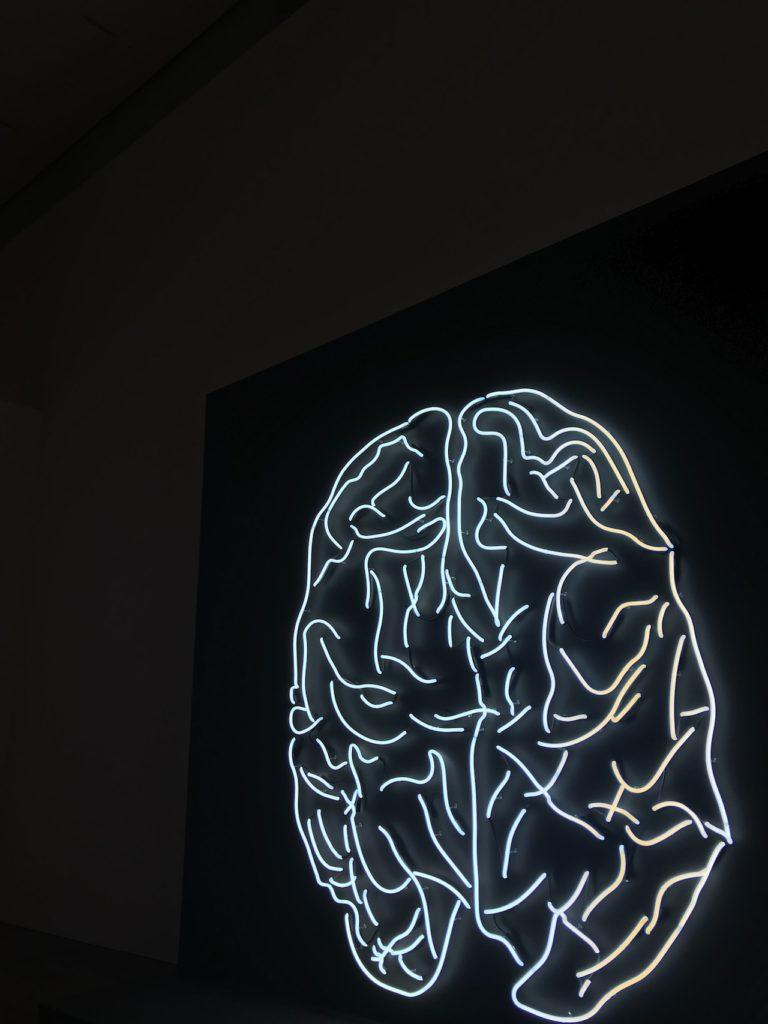 A brain neon sign.